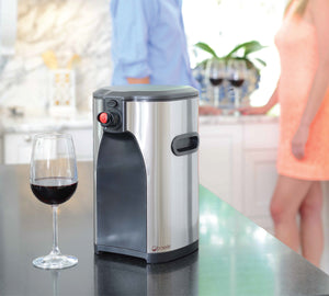 Boxxle Box Wine Dispenser, 3-Liter, Stainless Steel
