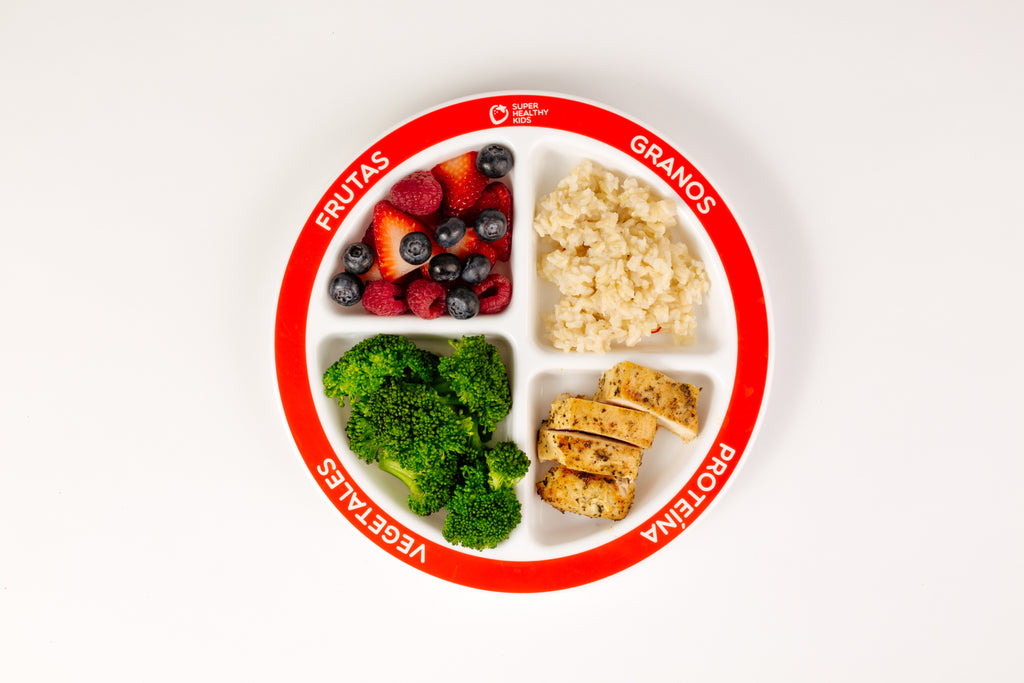 myplate divided kids plate health beet