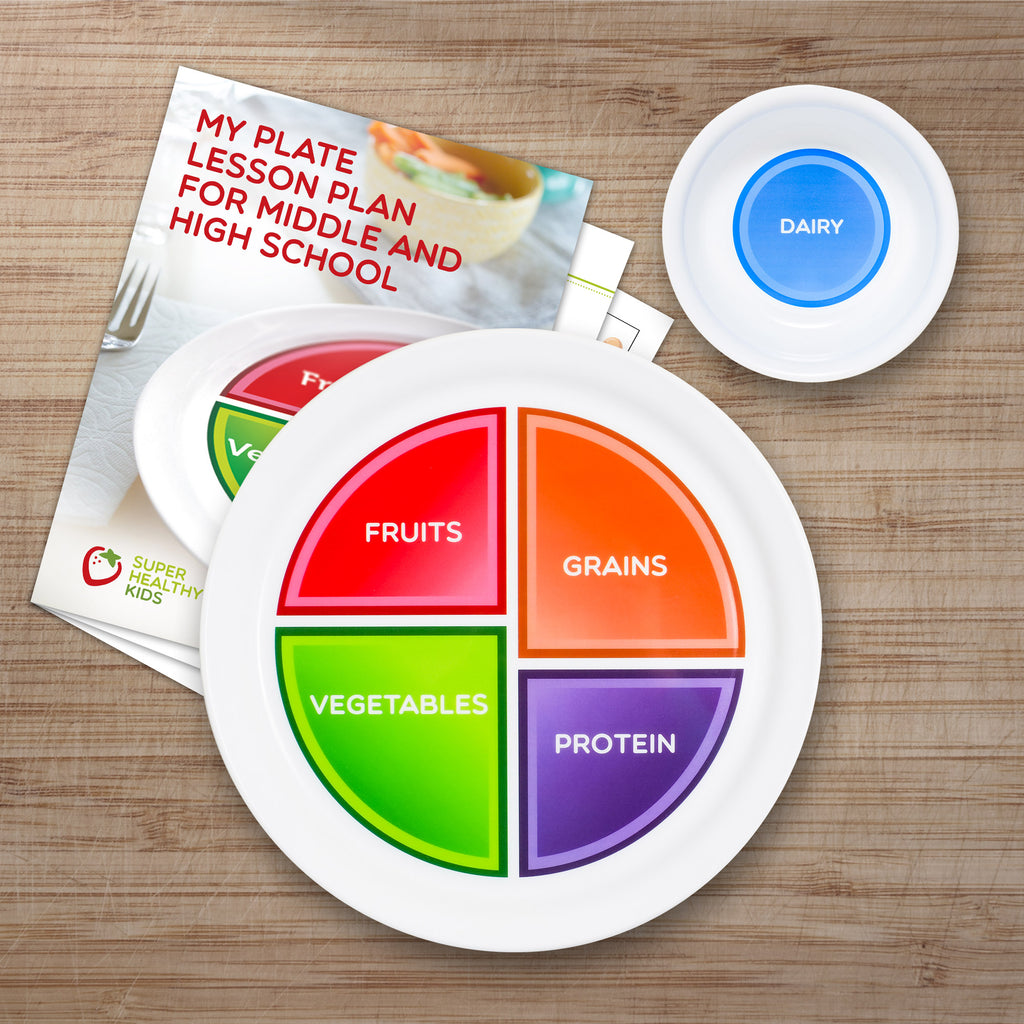Myplate Adult And Teen With Dairy Bowl And High School Lesson Plan
