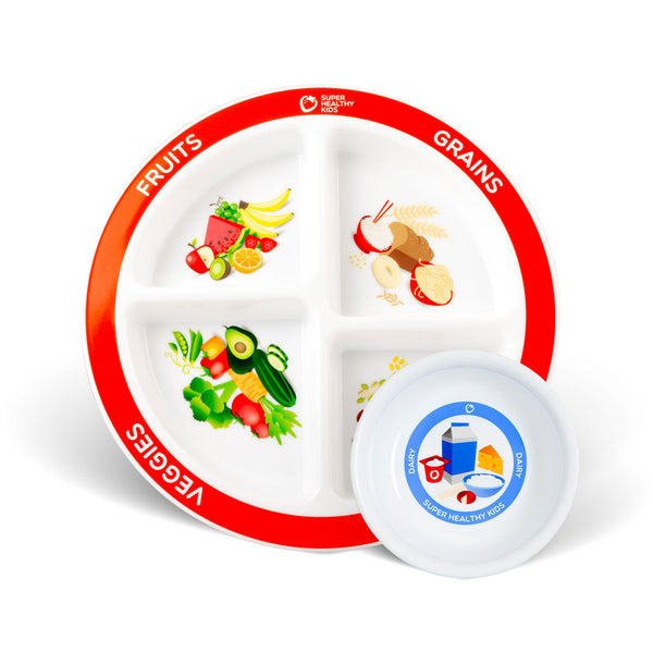 MyPlate for Kids 4 Section and Kids Dairy Bowl