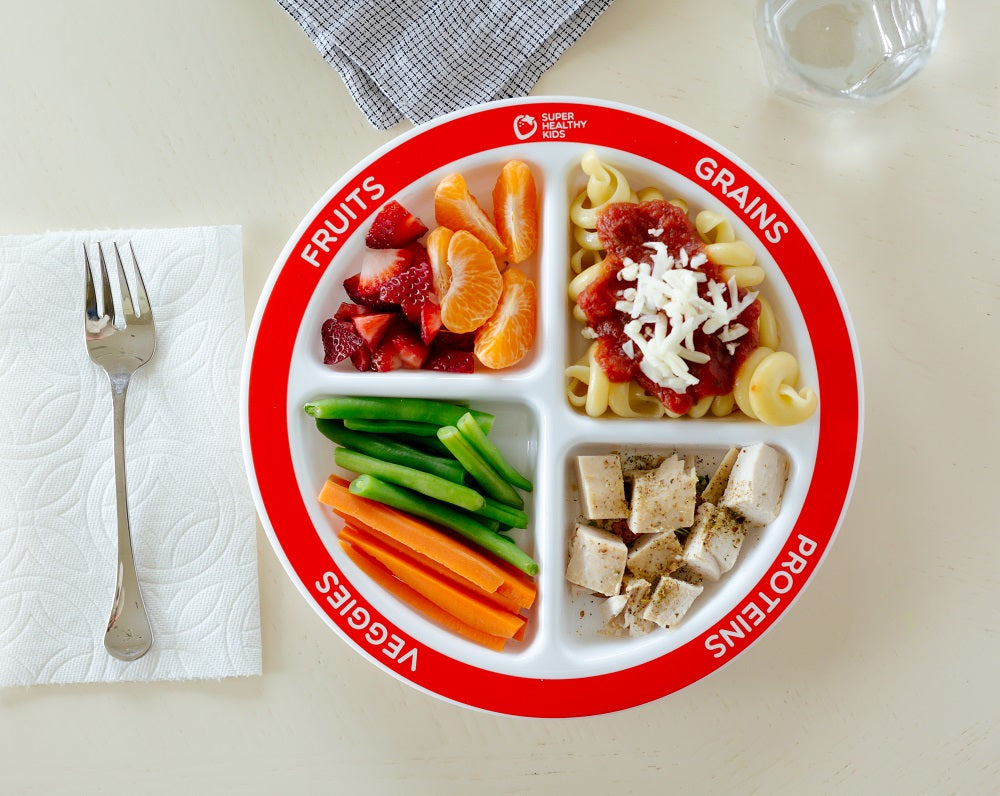 1-pack MyPlate Divided Kids Portion Plate Plus Dairy Bowl and Lesson Plan for Picky Eaters