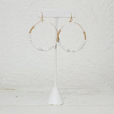 Gracie Marble Hoop Earrings
