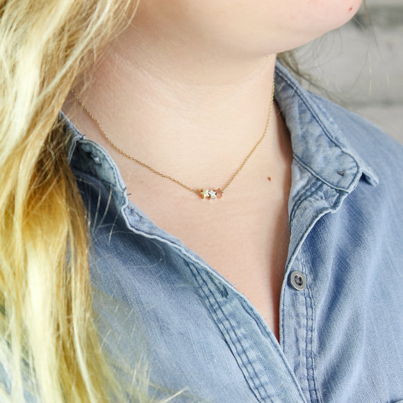 Three Stars Dainty Necklace