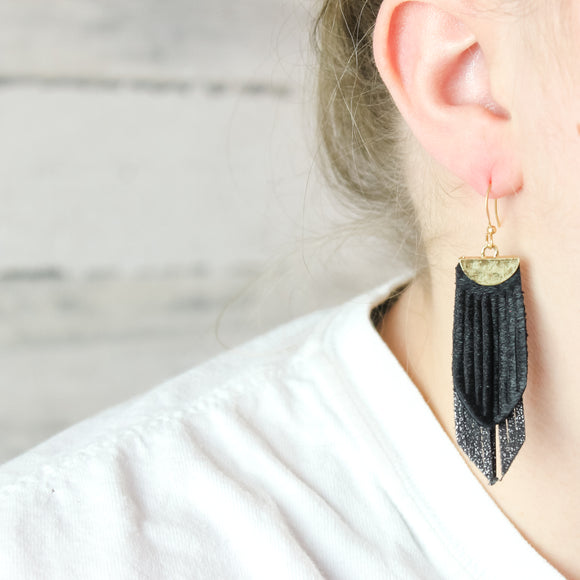 Nicole Leather Earrings