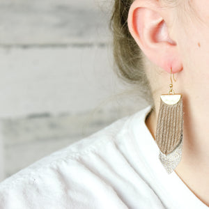 Colored Outline Earrings