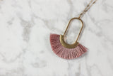 Worth the Tassel Pendant Necklace