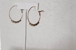 Metal Beaded Hoops
