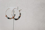 Fall Beaded Hoops