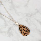 Leaping for Leopard Pendant Necklace