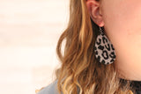 Fuzzy Leopard Earrings