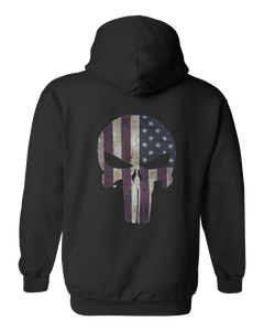 Flag/Skull Zip Up