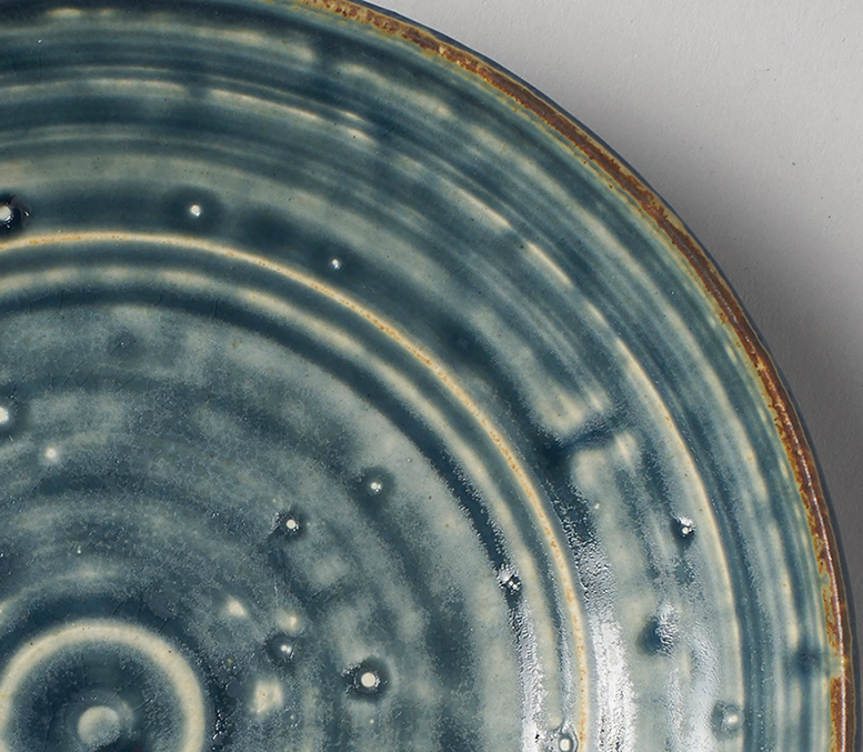 Small blue salad plate