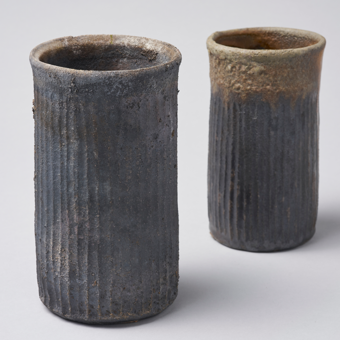 Set of 2 Wood Fired Vases