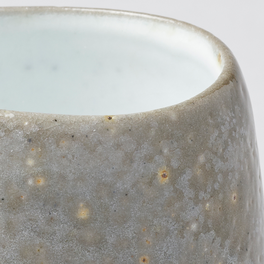 Small soda fired teabowl