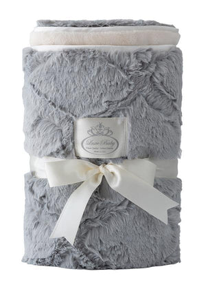 NEW! Luxury Plush Diamond Texture Baby Blanket - Grey