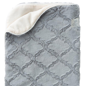 NEW! Luxury Plush Diamond Texture Baby Blanket - Grey - Shop baby blankets, baby shower gifts, newborn baby clothes & more..