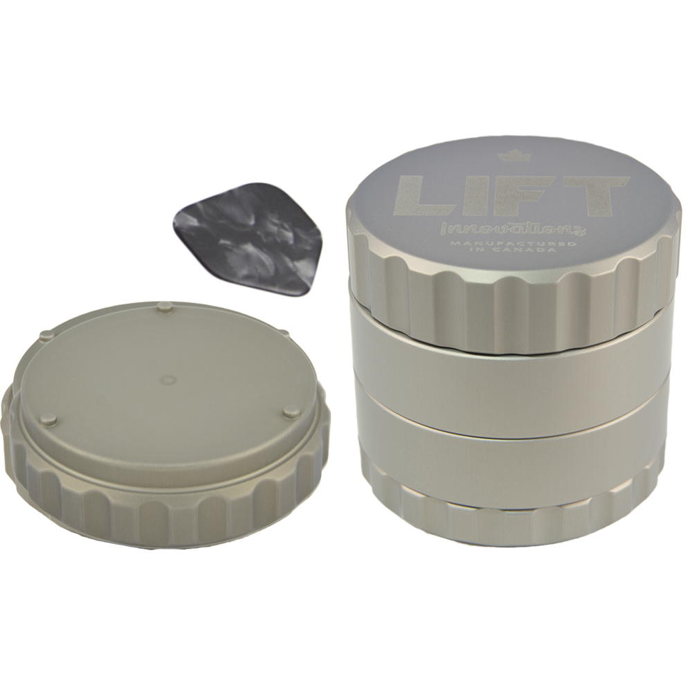 4 Piece SILVER Grinder PRE-ORDER for shipping on August 17, 2020