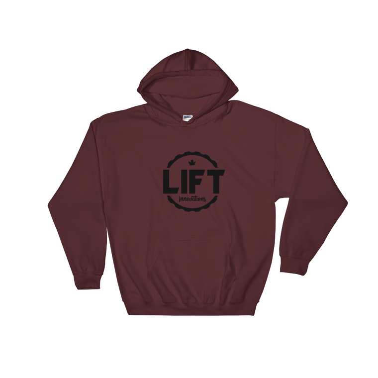 Hooded Sweatshirt (MAROON) FREE SHIPPING to Canada