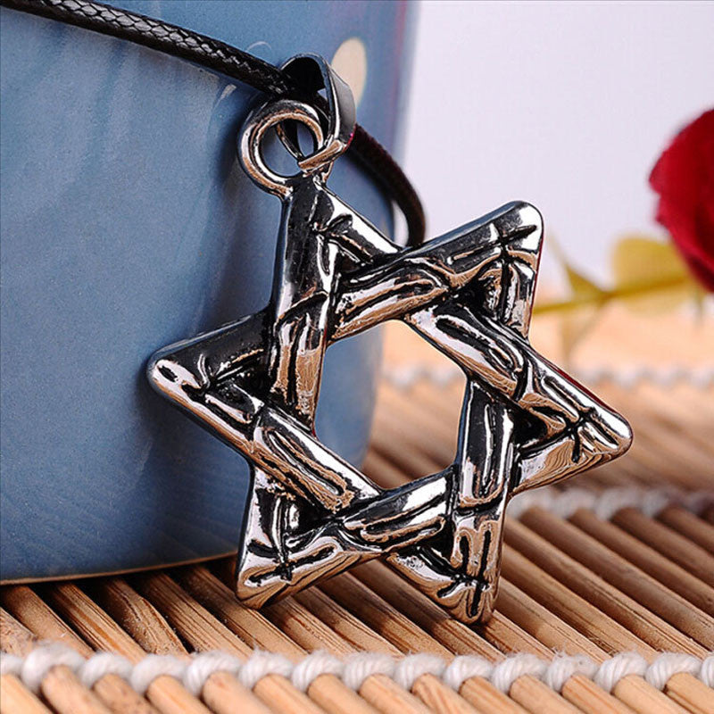 Stainless steel pendant necklaces star of david aflerio stainless steel pendant necklaces star of david mozeypictures Image collections