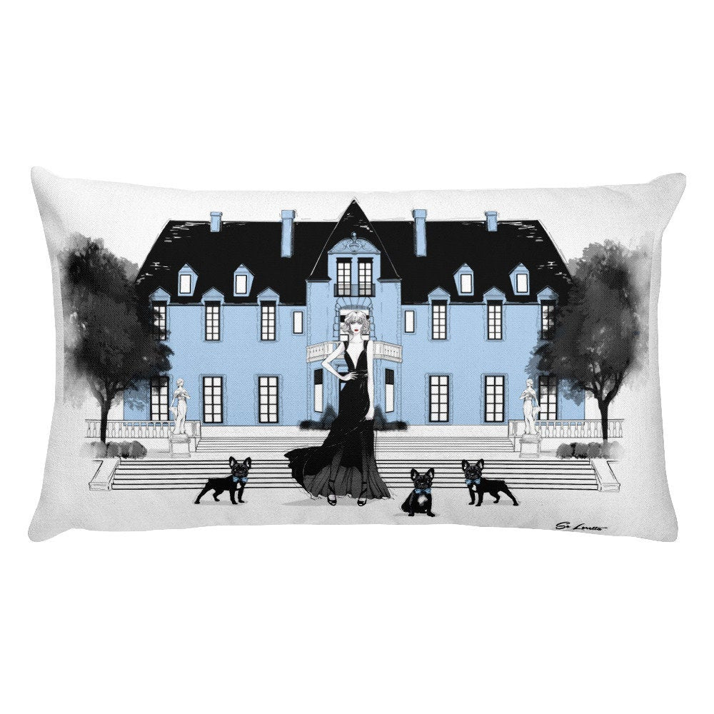 The French Chateau Pillow - French Bulldog