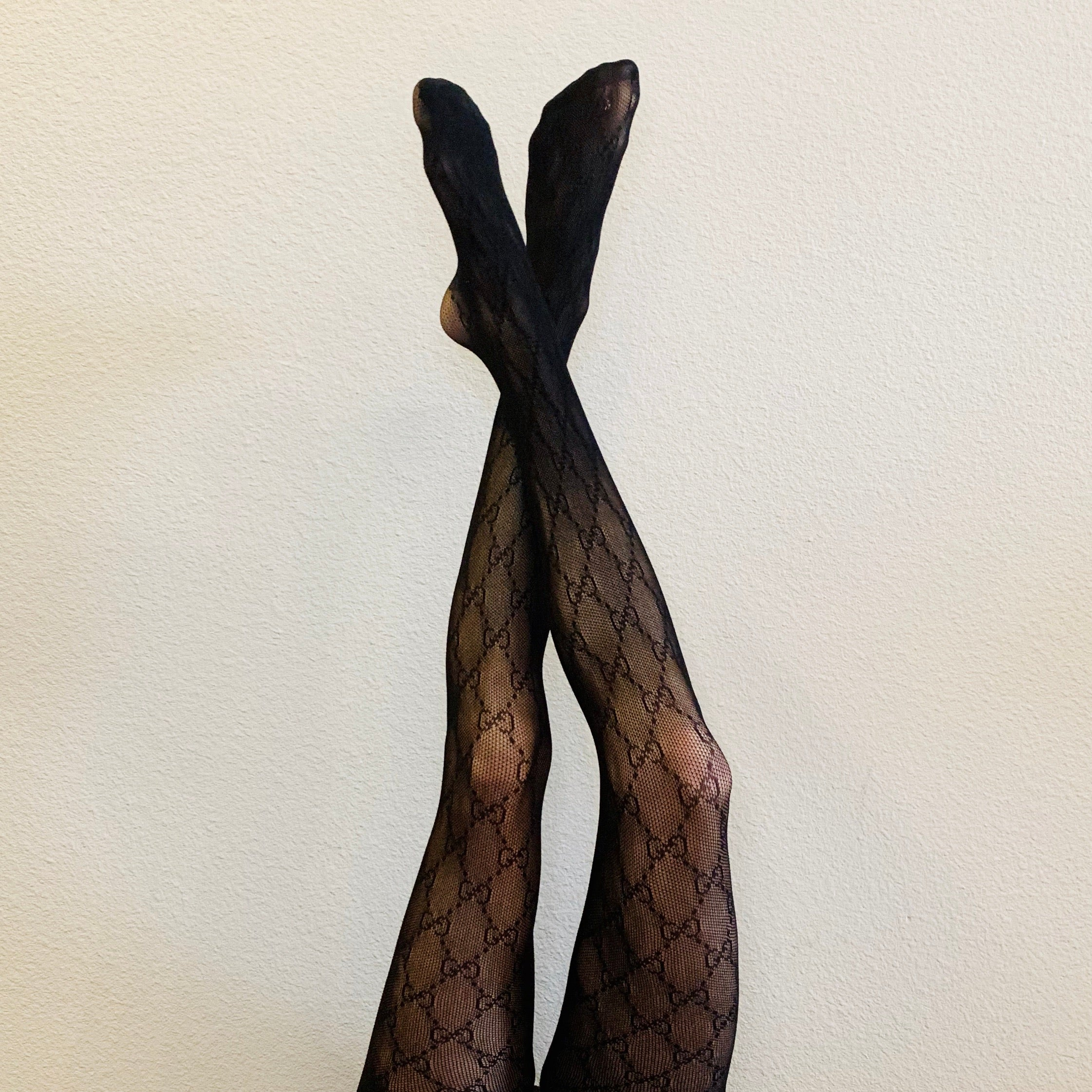 Black GG Interlocking Tights