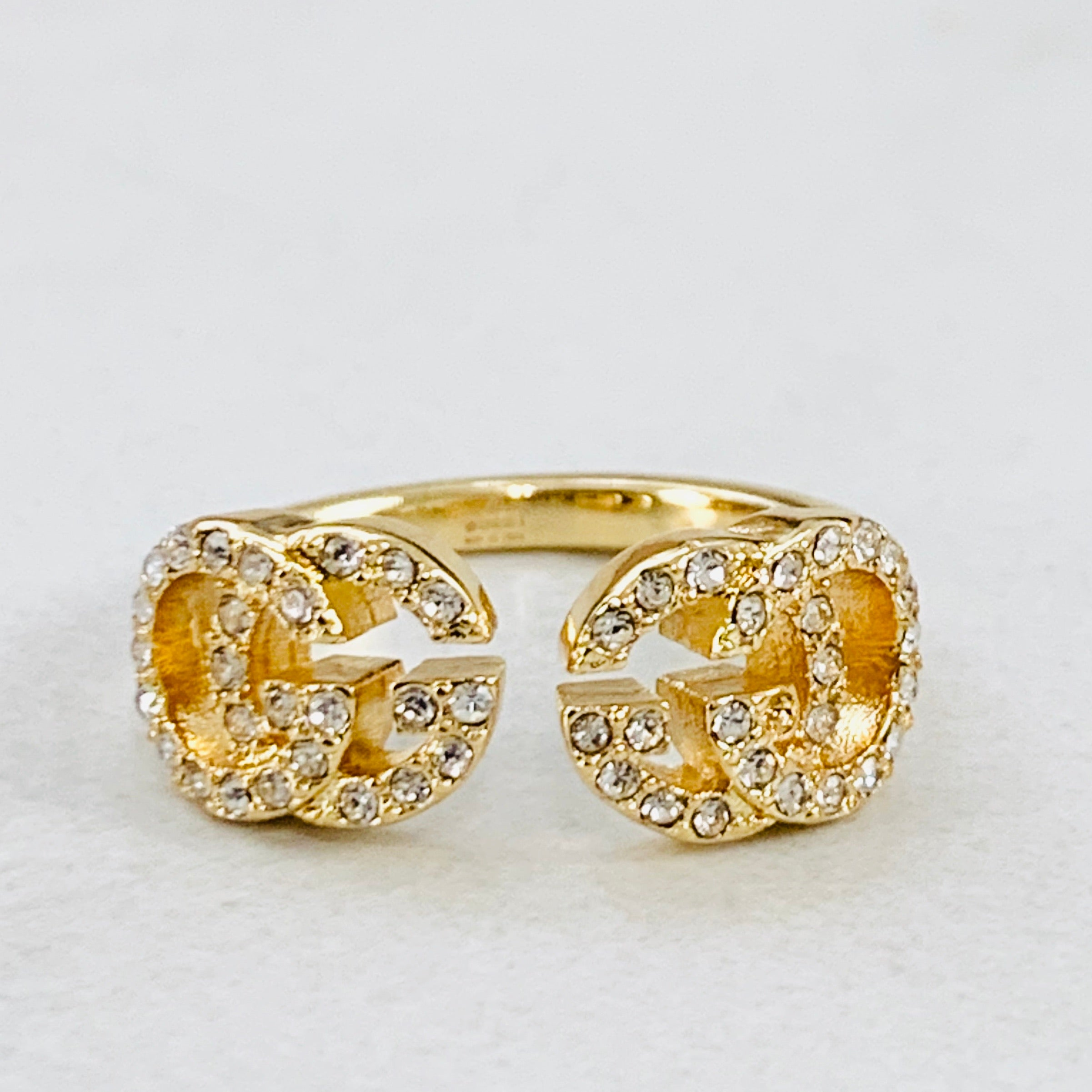 GG Gold Crystal Ring