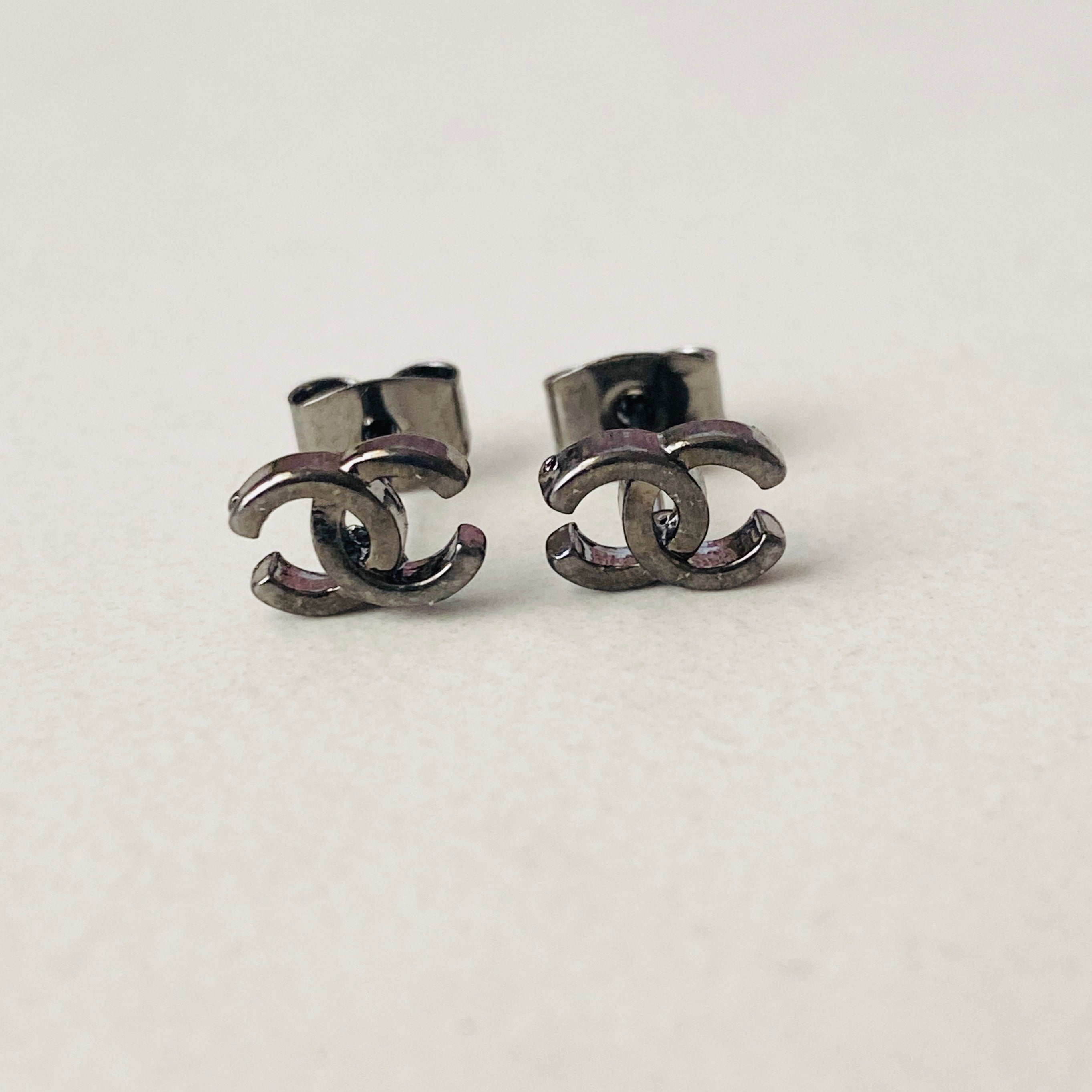 CC Small Smoke Stud Earrings