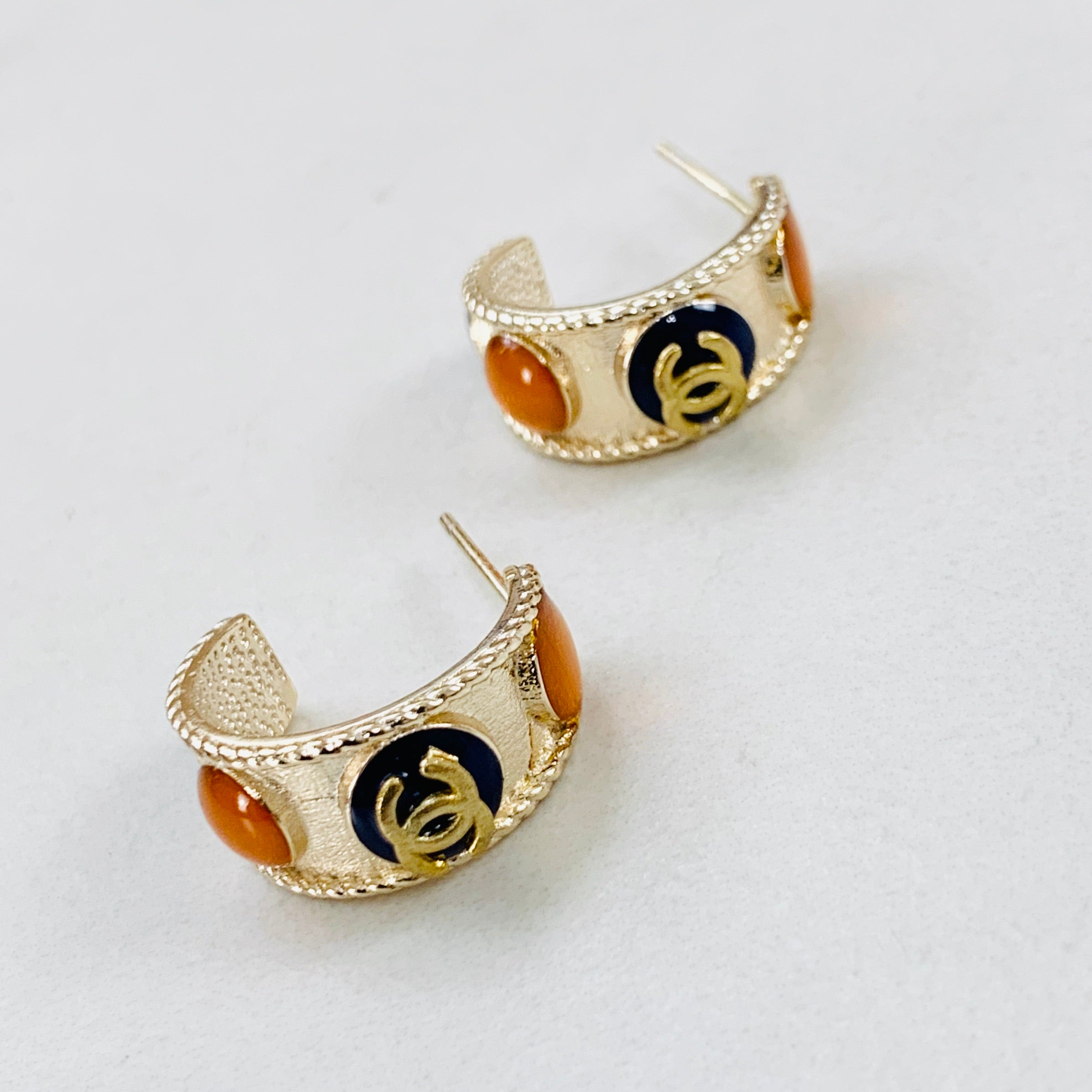 CC Gold Small Hoop Earrings