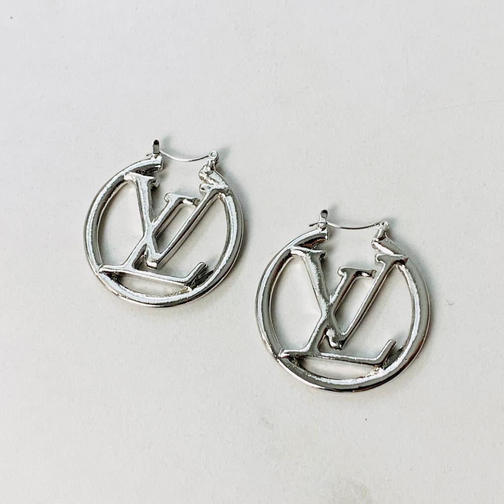 "LV 1"" Hoop Earrings"