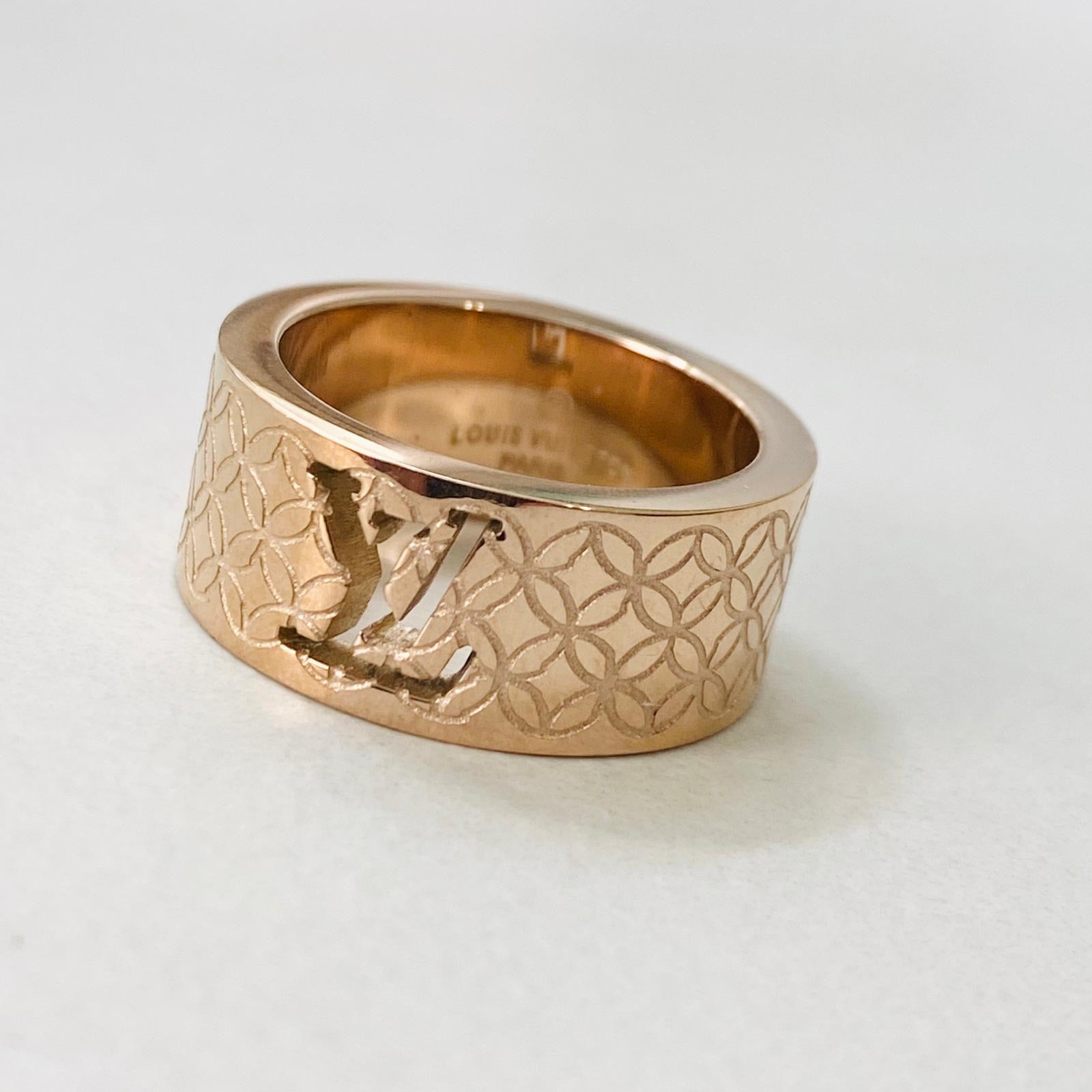 LV Rose Gold Ring Size 7