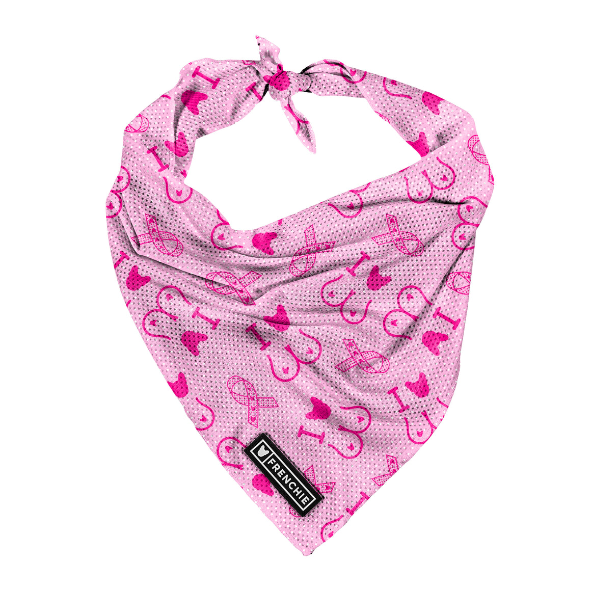Frenchie Cooling Bandana - Save The Ta-Tas