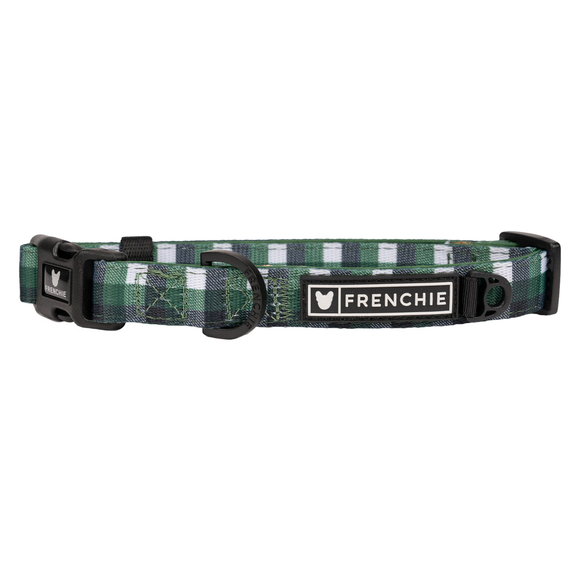 Frenchie Comfort Collar - Emerald Plaid