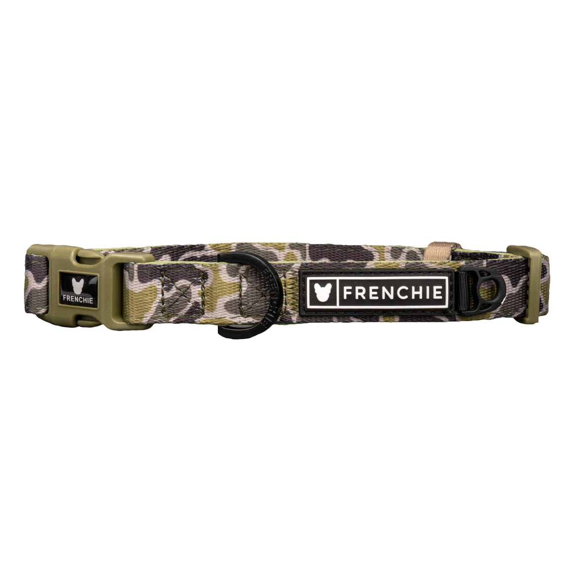 Frenchie Comfort Collar - Green Frenchie Camo