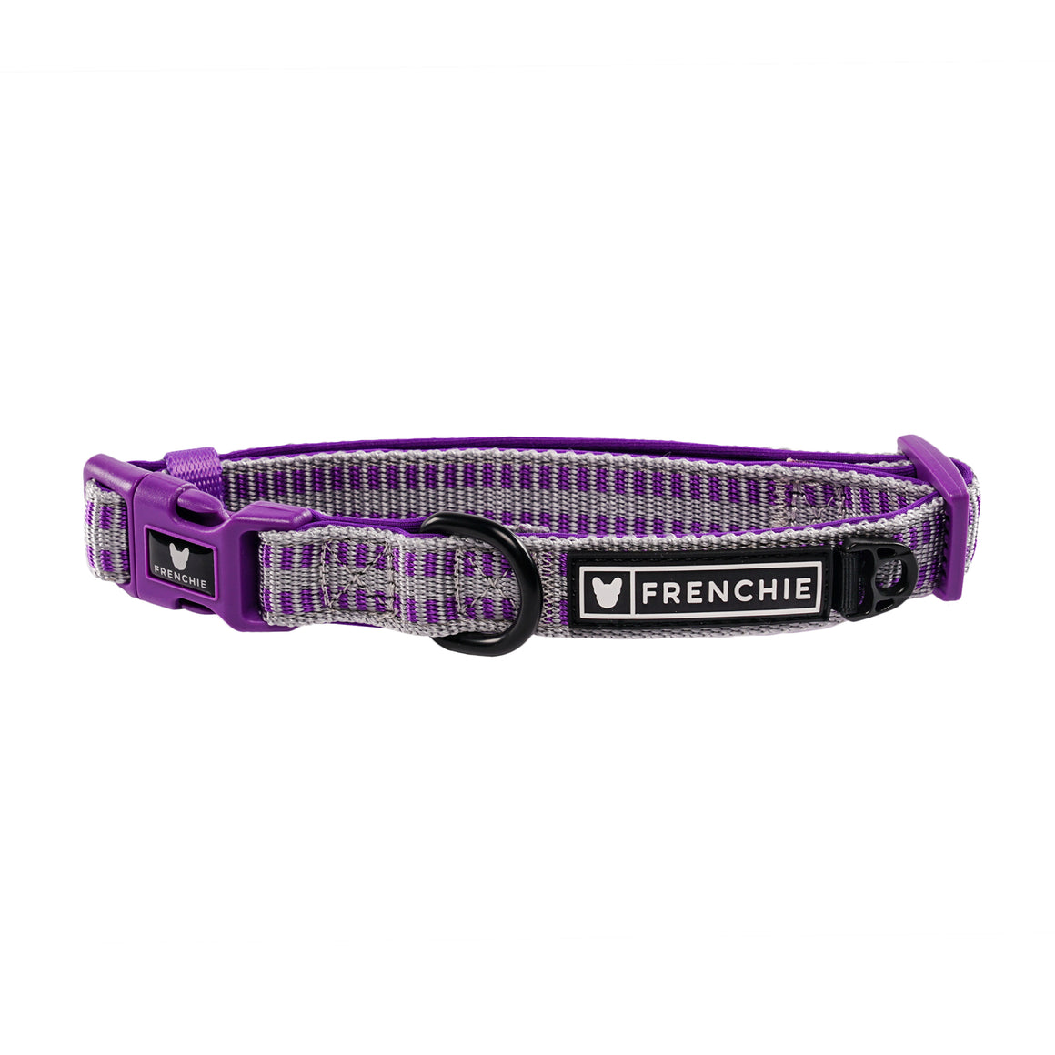 Frenchie Comfort Collar - Purple and Silver