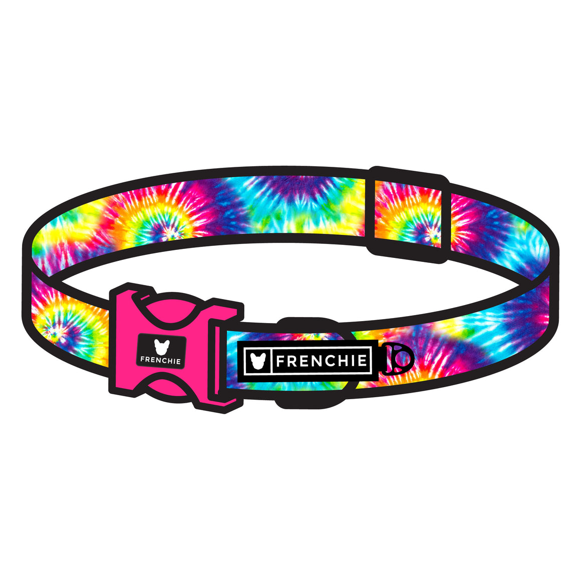 Frenchie Comfort Collar - Tie Dye