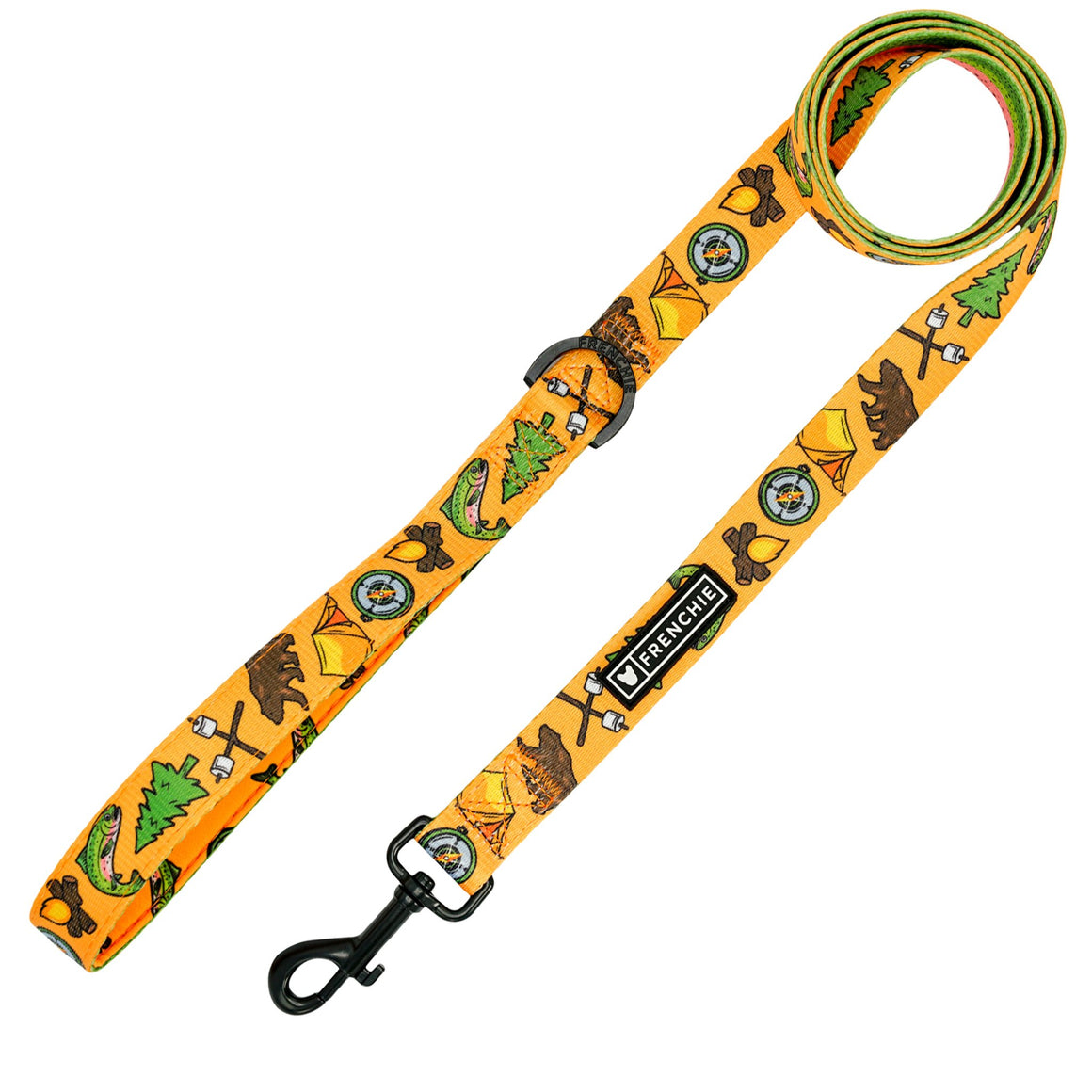 Frenchie Comfort Leash - Happy Camper