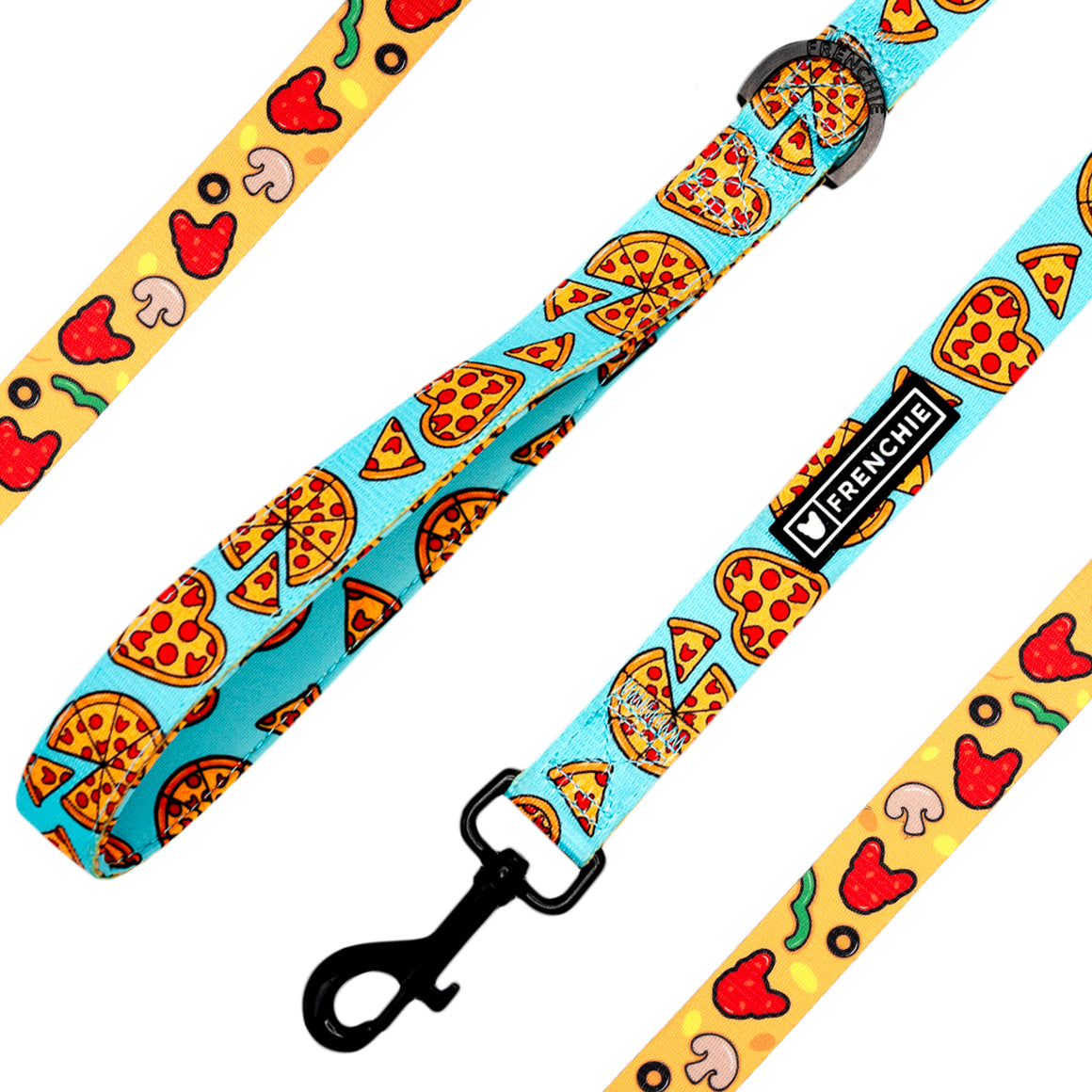 Frenchie Comfort Leash - Pizza My Heart