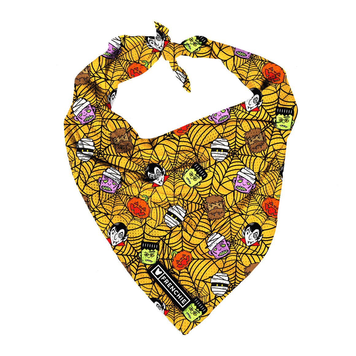 Frenchie Cooling Bandana- Monster Mash