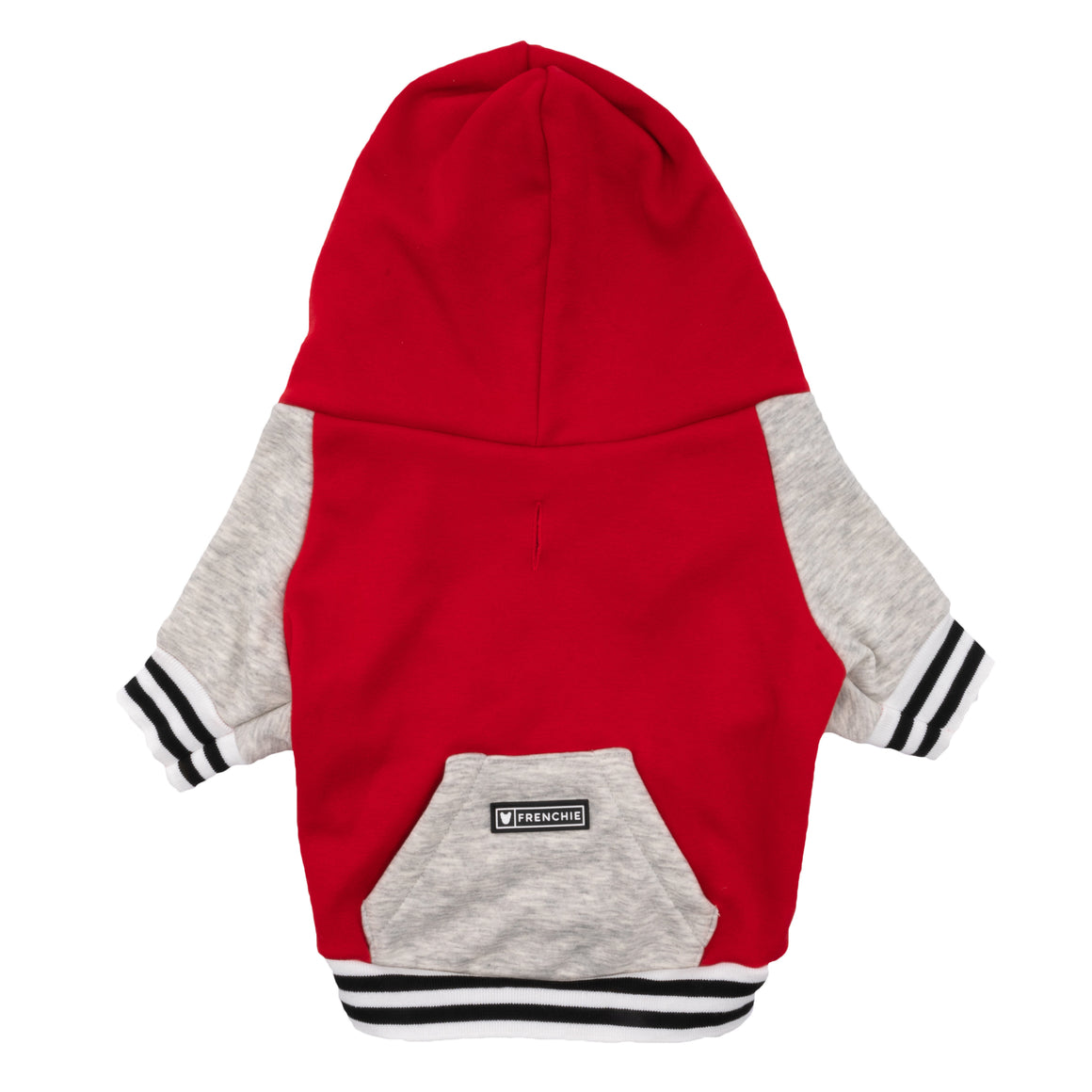 Frenchie Dog Hoodie - Red Varsity