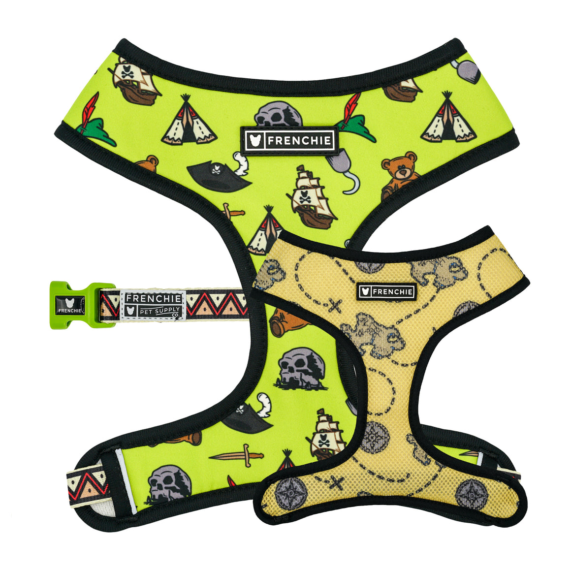 Frenchie Duo Reversible Harness - Pirate's Cove