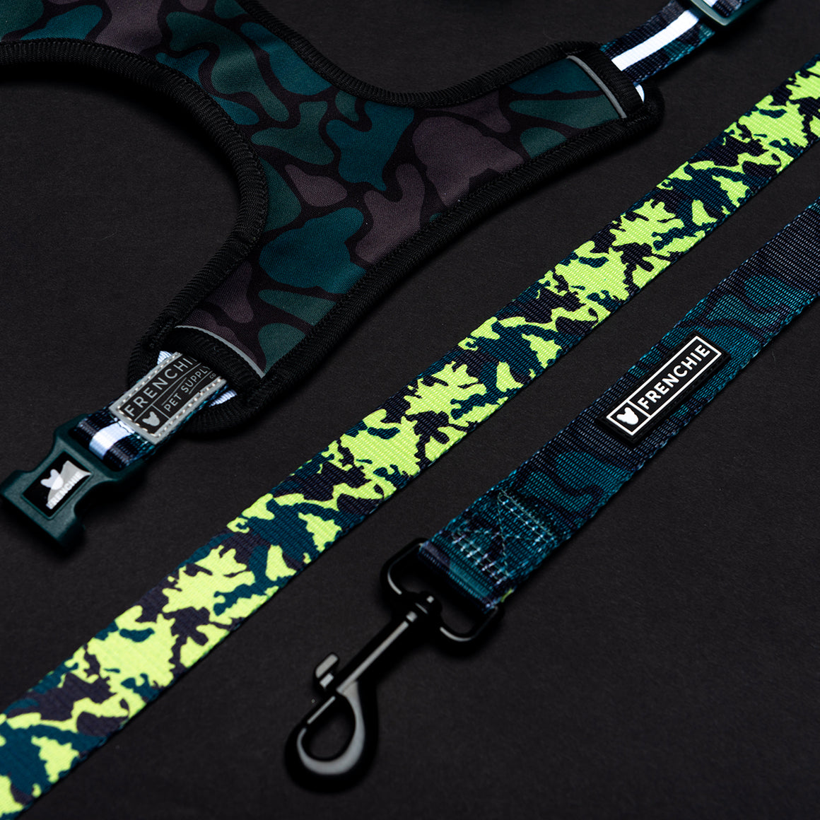 Frenchie Comfort Leash - Forest Camo