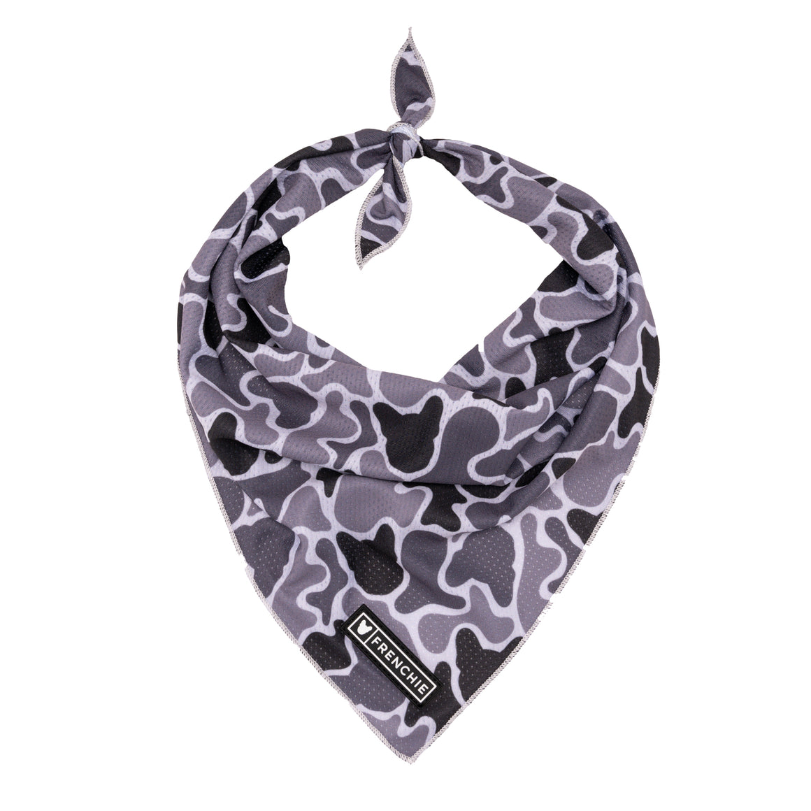 Frenchie Cooling Bandana- Black Frenchie Camo