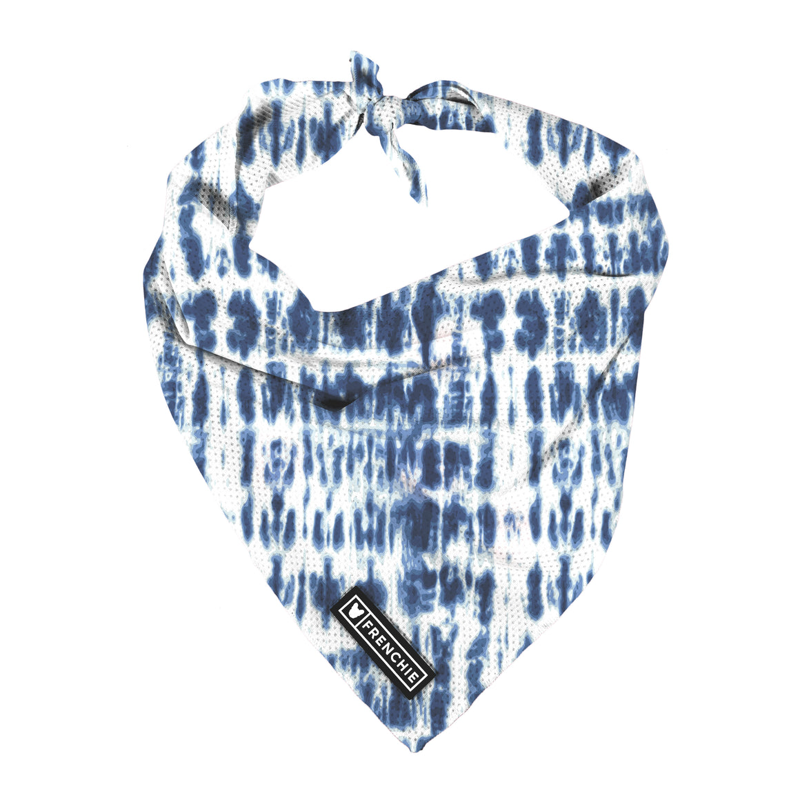 Frenchie Cooling Bandana- Blue Tie Dye