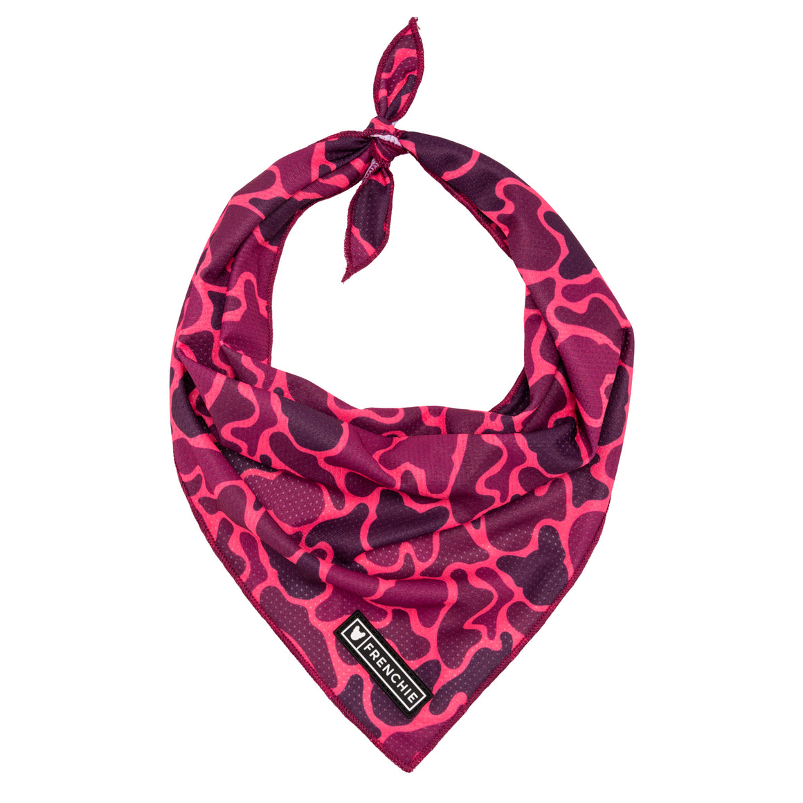 Frenchie Cooling Bandana- Pink Frenchie Camo
