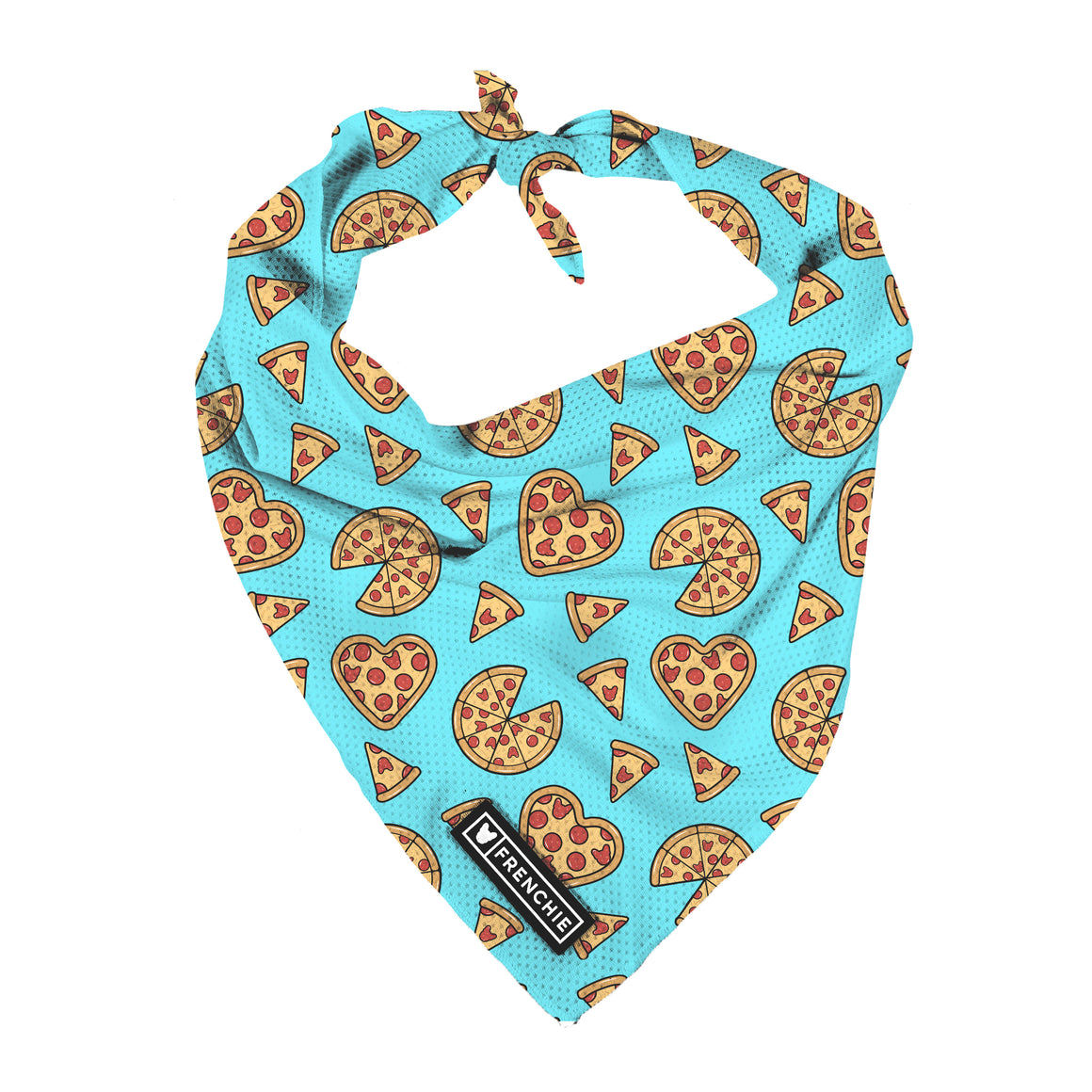 Frenchie Cooling Bandana - Pizza My Heart
