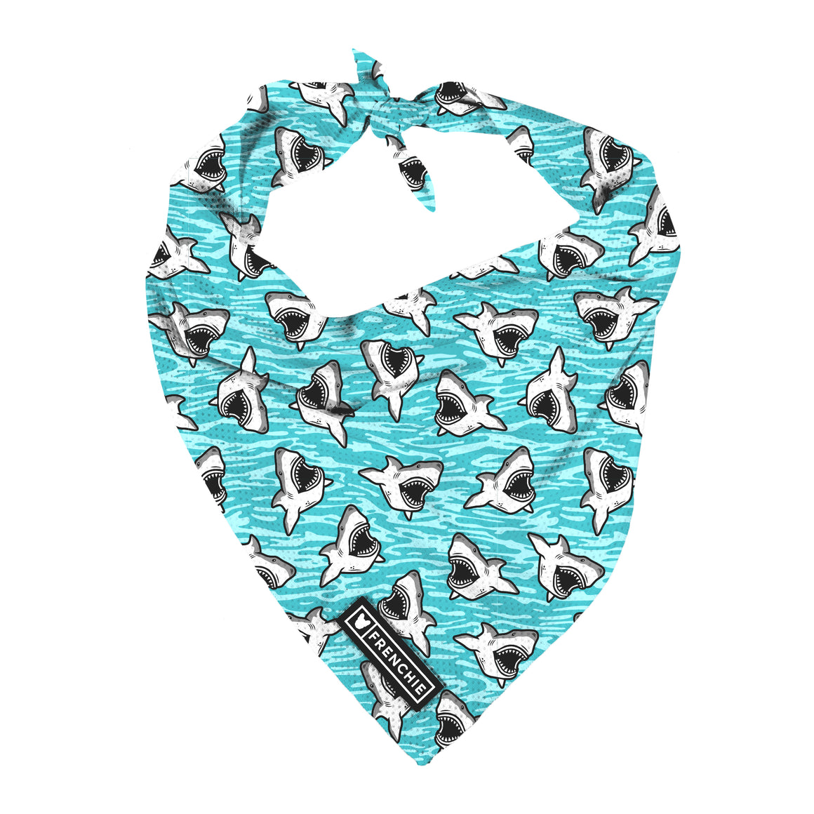 Frenchie Cooling Bandana- Shark Bait