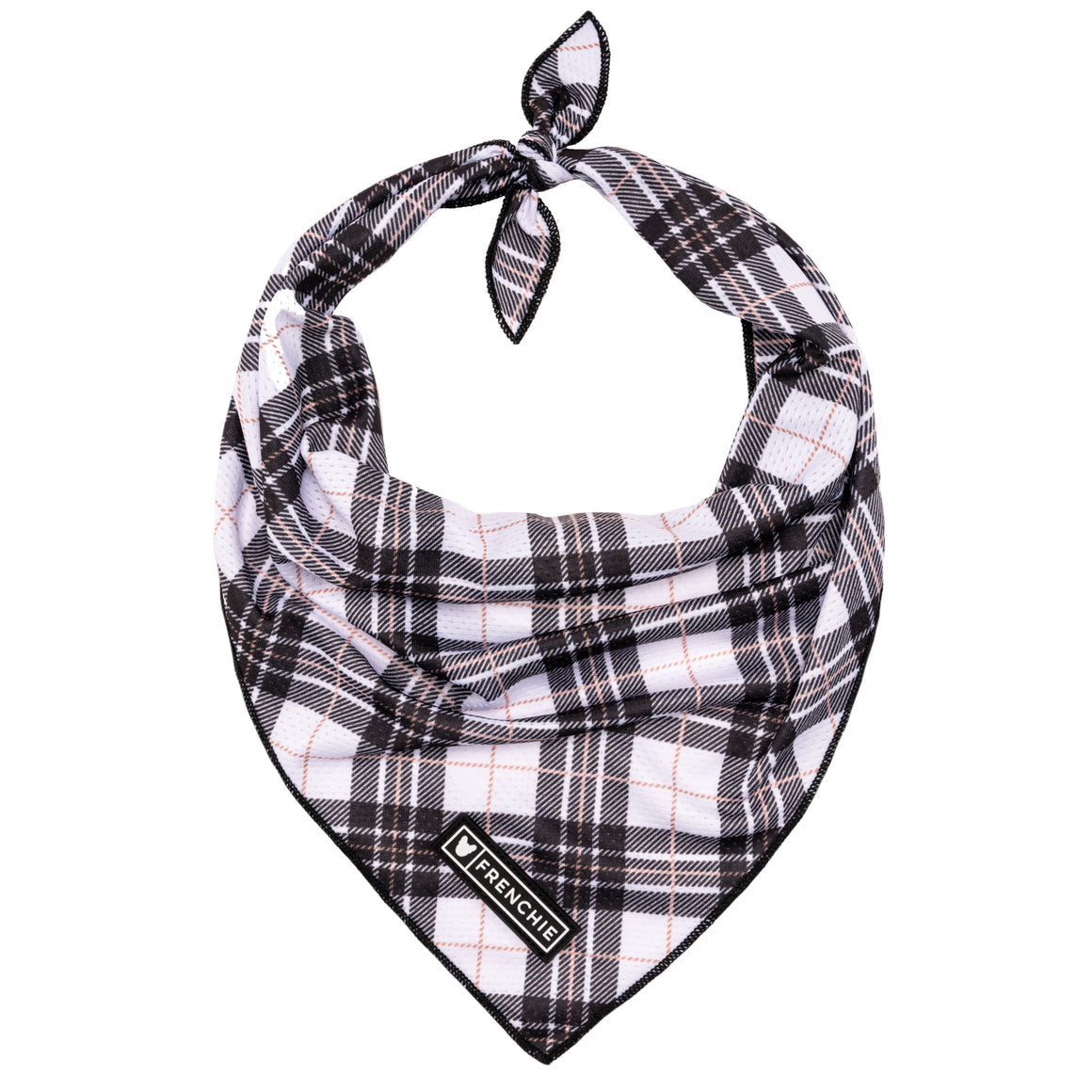 Frenchie Cooling Bandana- White Hunter Plaid