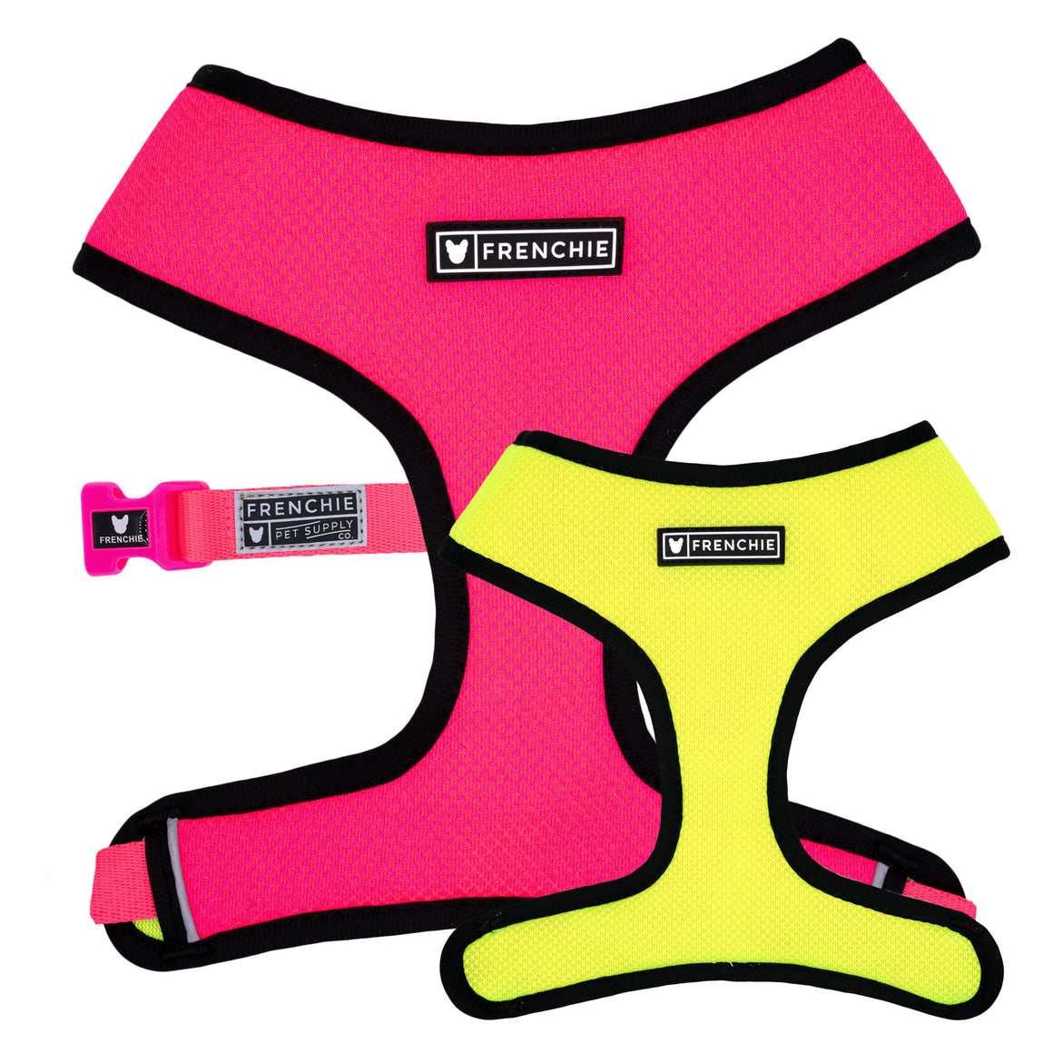 Frenchie Duo Reversible Harness - Neon Pink