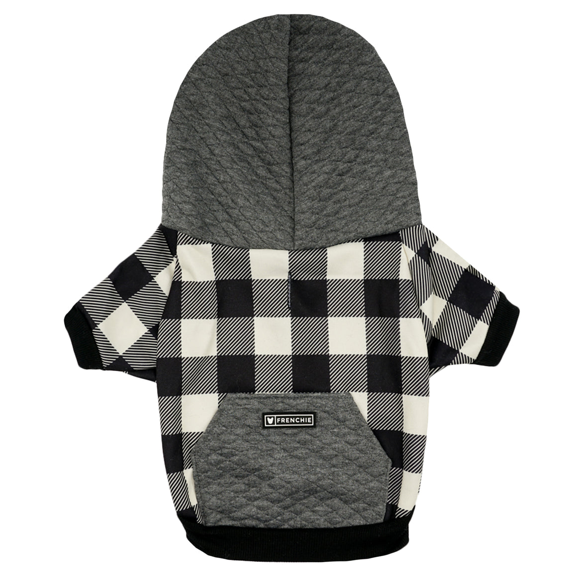 Frenchie Dog Hoodie - White Flannel