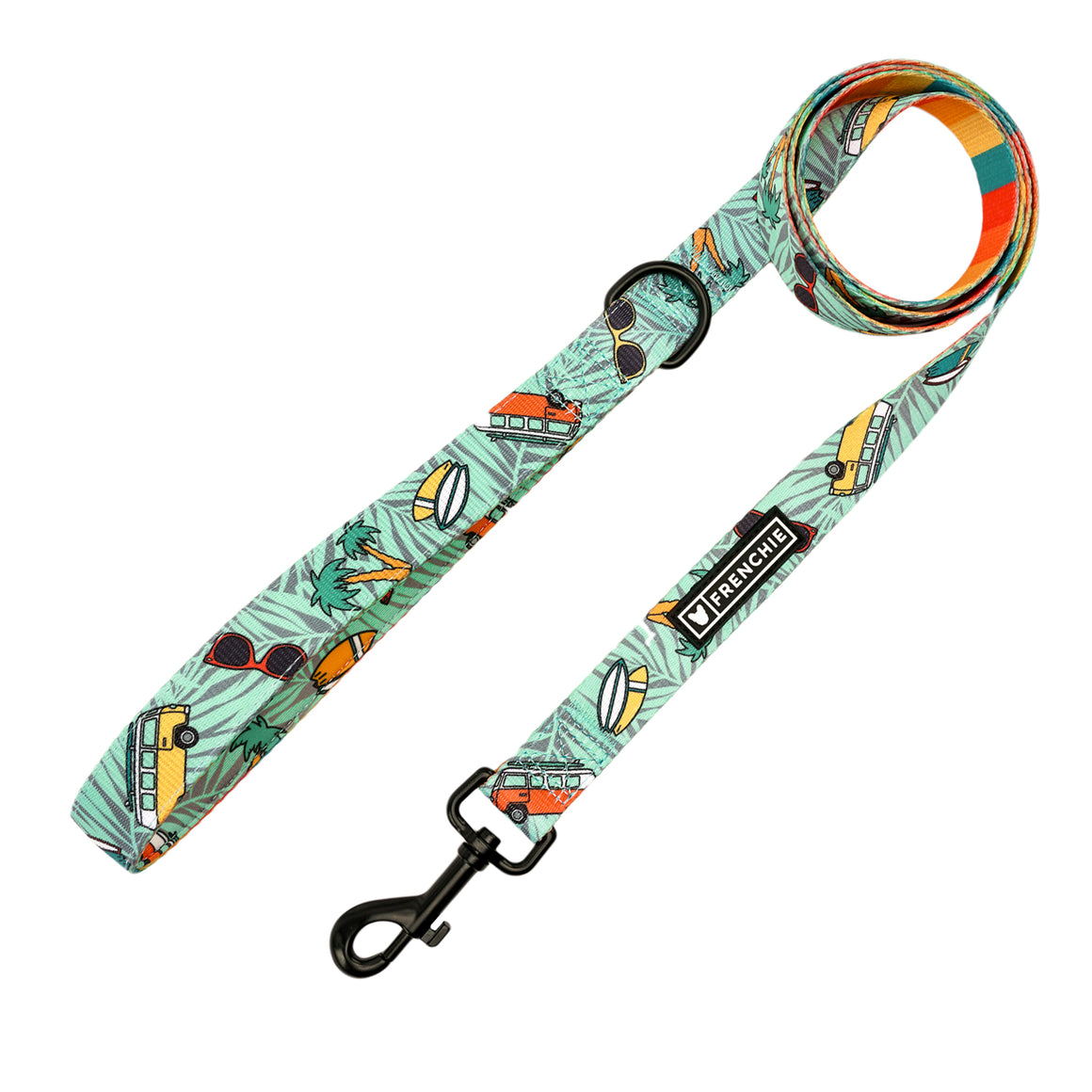 Frenchie Comfort Leash - Surf's Up